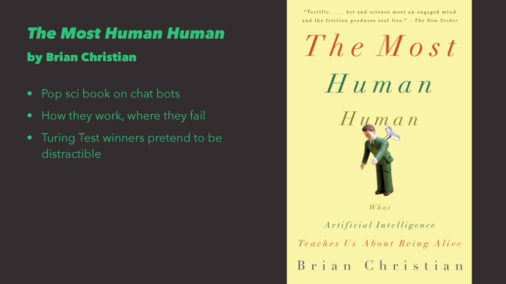 The Most Human Human by Brian Christian • Pop s...