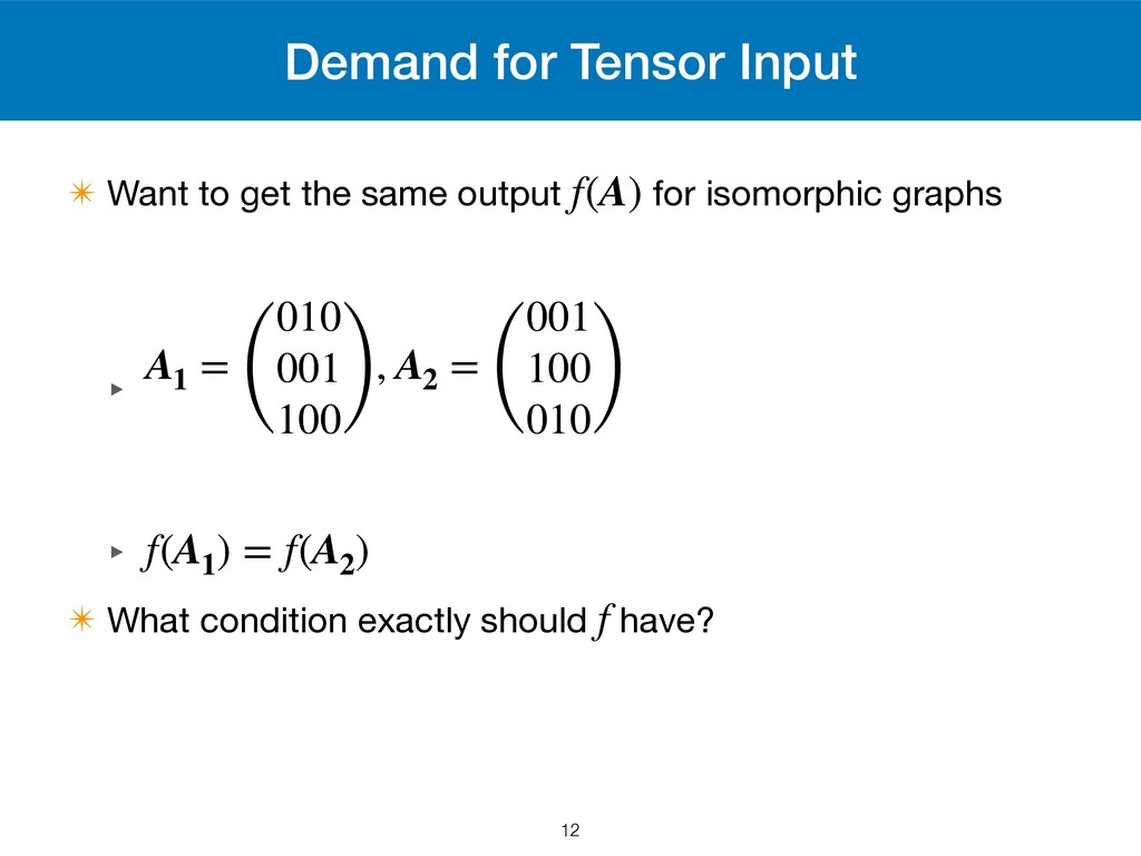 Demand for Tensor Input ✴ Want to get the same ...