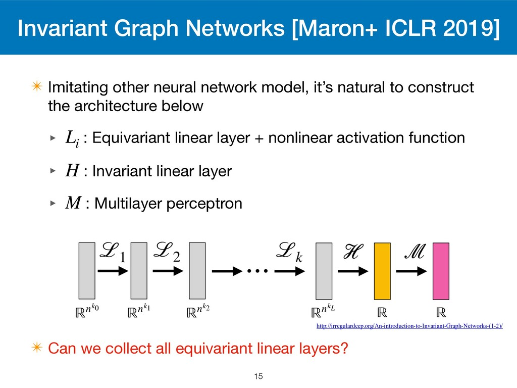 Invariant Graph Networks [Maron+ ICLR 2019] ✴ I...