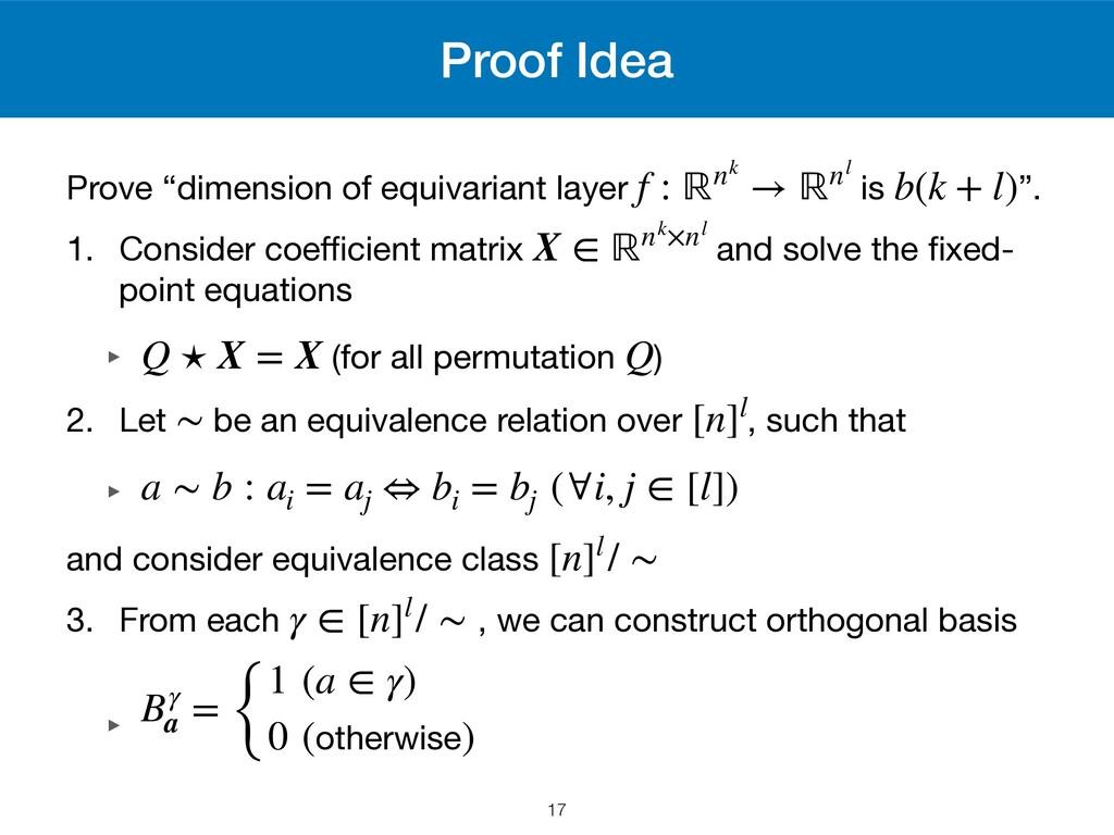 "Proof Idea Prove ""dimension of equivariant laye..."