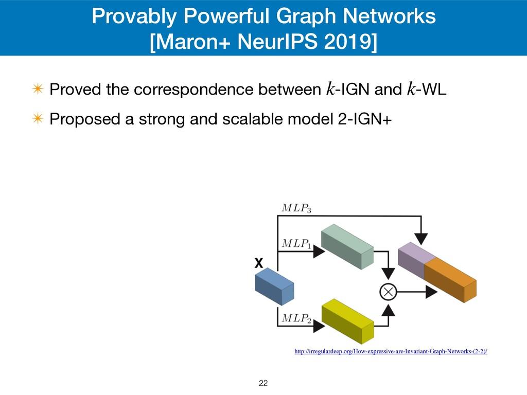 Provably Powerful Graph Networks [Maron+ NeurIP...