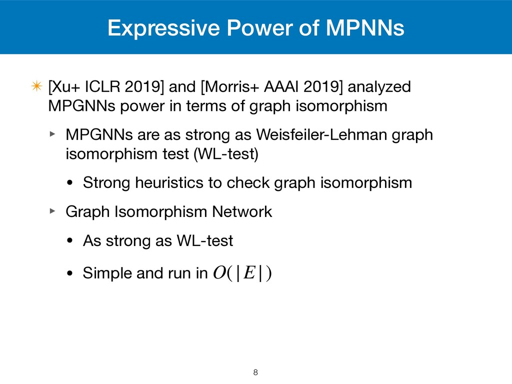 Expressive Power of MPNNs ✴ [Xu+ ICLR 2019] and...