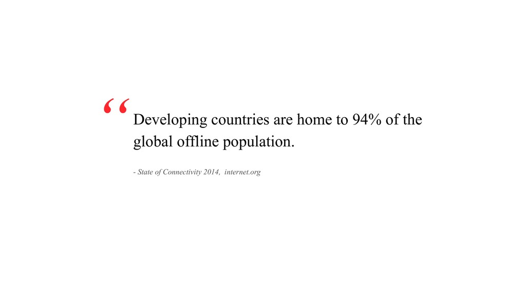 Developing countries are home to 94% of the glo...