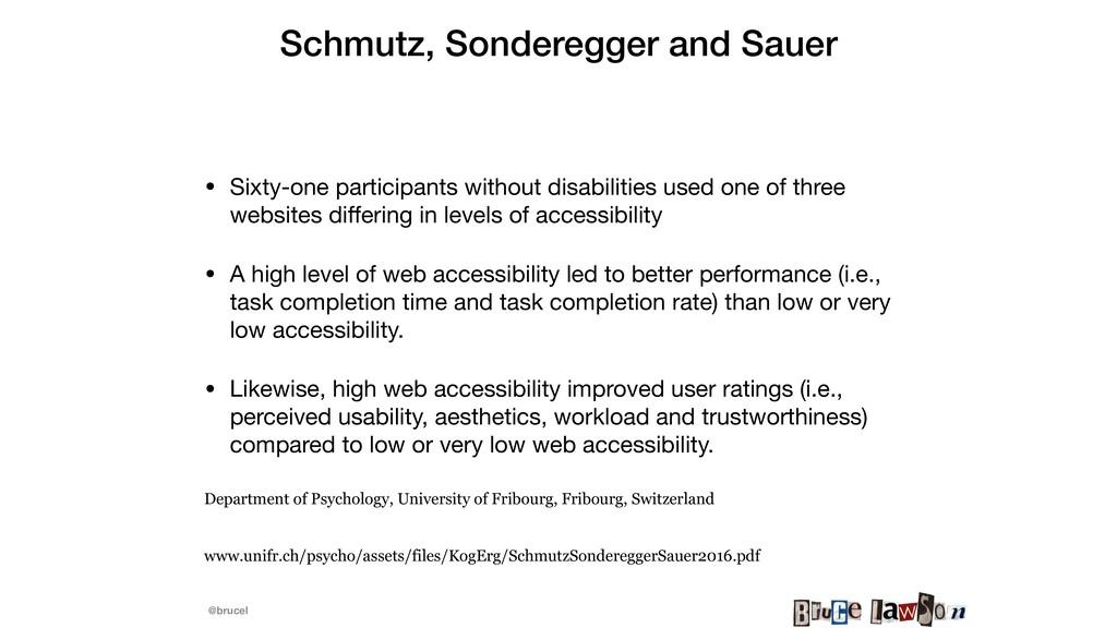 @brucel Schmutz, Sonderegger and Sauer • Sixty...