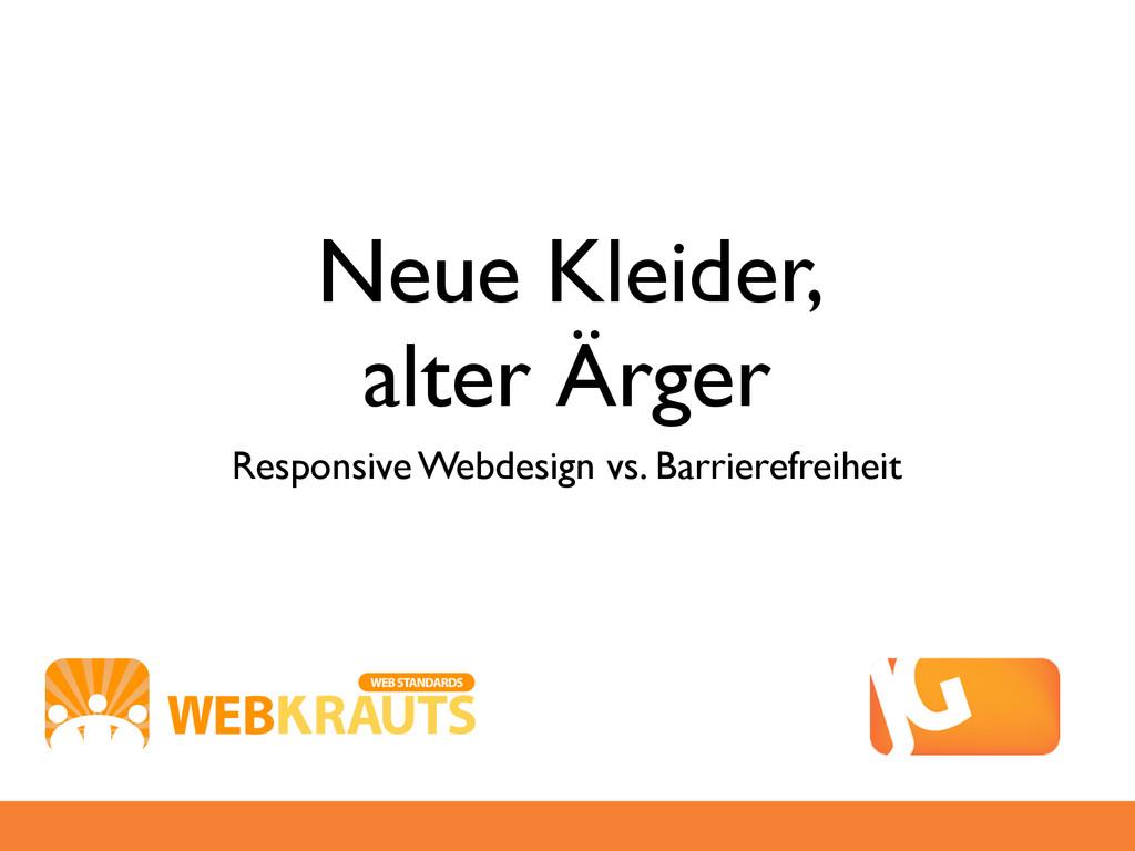 Neue Kleider, alter Ärger Responsive Webdesign ...
