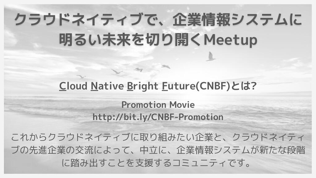 クラウドネイティブで、企業情報システムに 明るい未来を切り開くMeetup Cloud Nat...