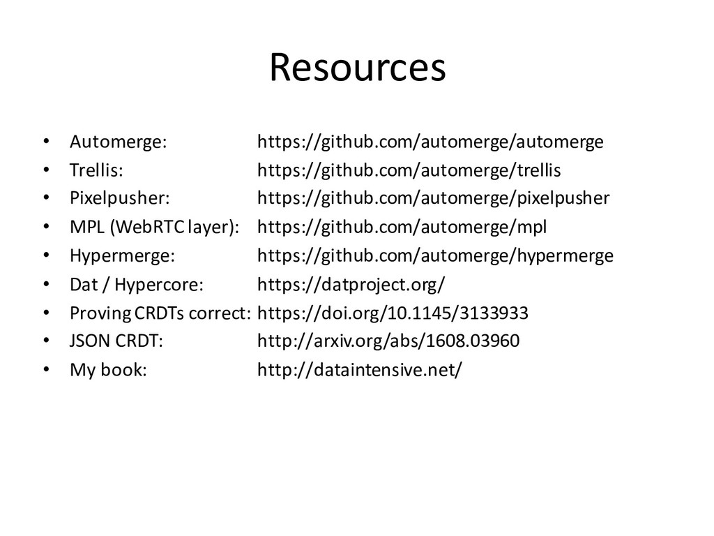 Resources • Automerge: https://github.com/autom...