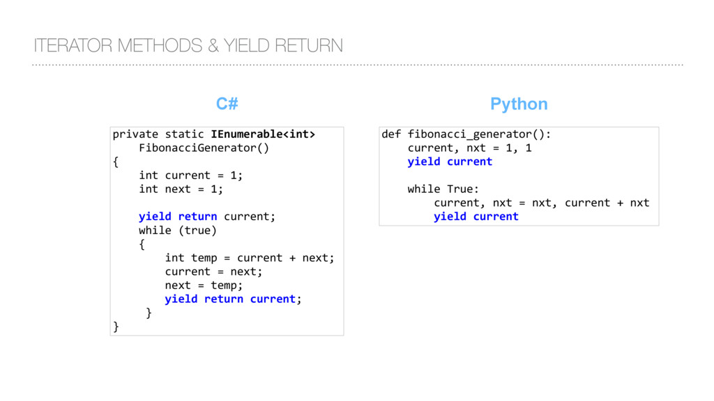 C# ITERATOR METHODS & YIELD RETURN private stat...