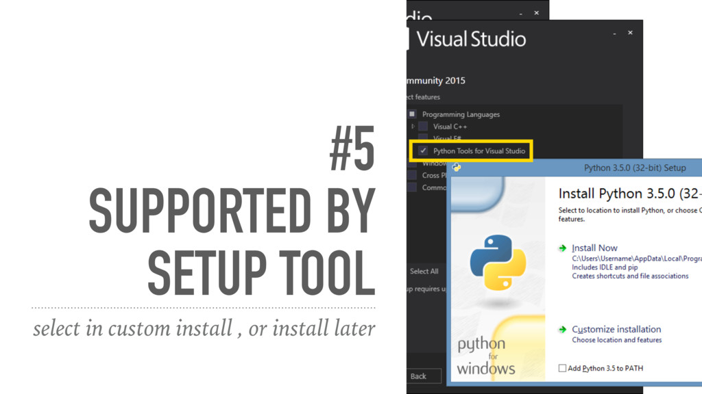 #5 SUPPORTED BY SETUP TOOL select in custom ins...