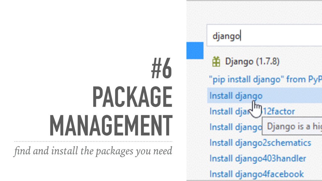 #6 PACKAGE MANAGEMENT find and install the packa...