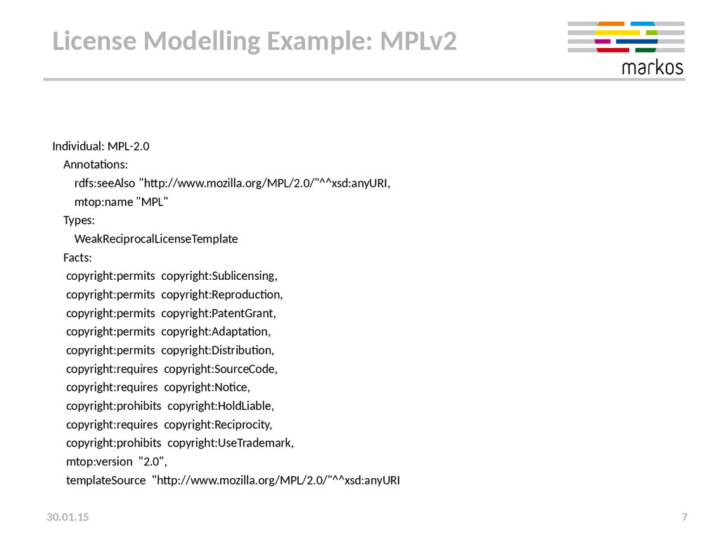 License Modelling Example: MPLv2 Individual: MP...