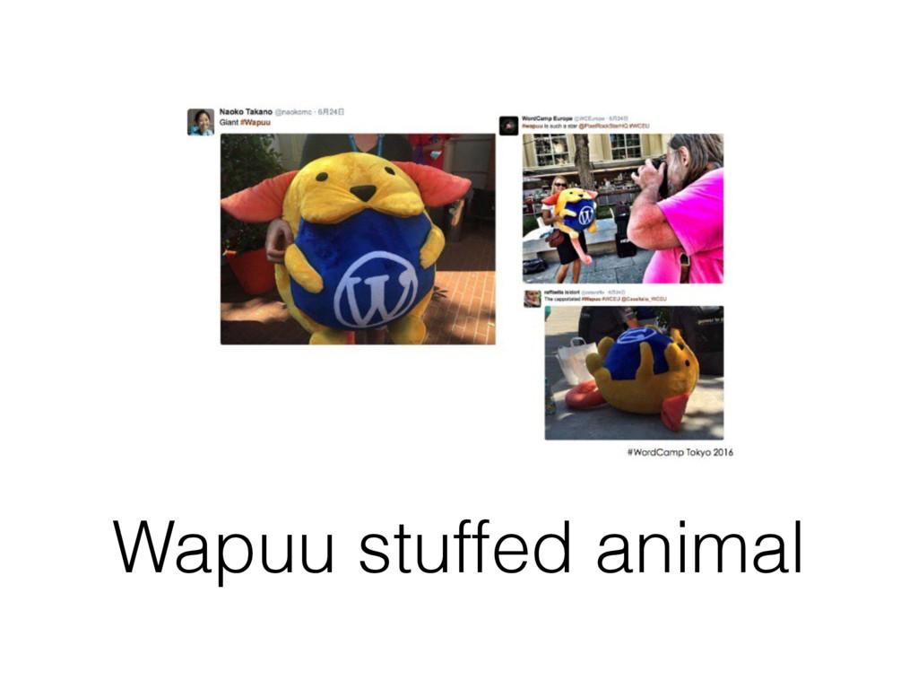 Wapuu stuffed animal