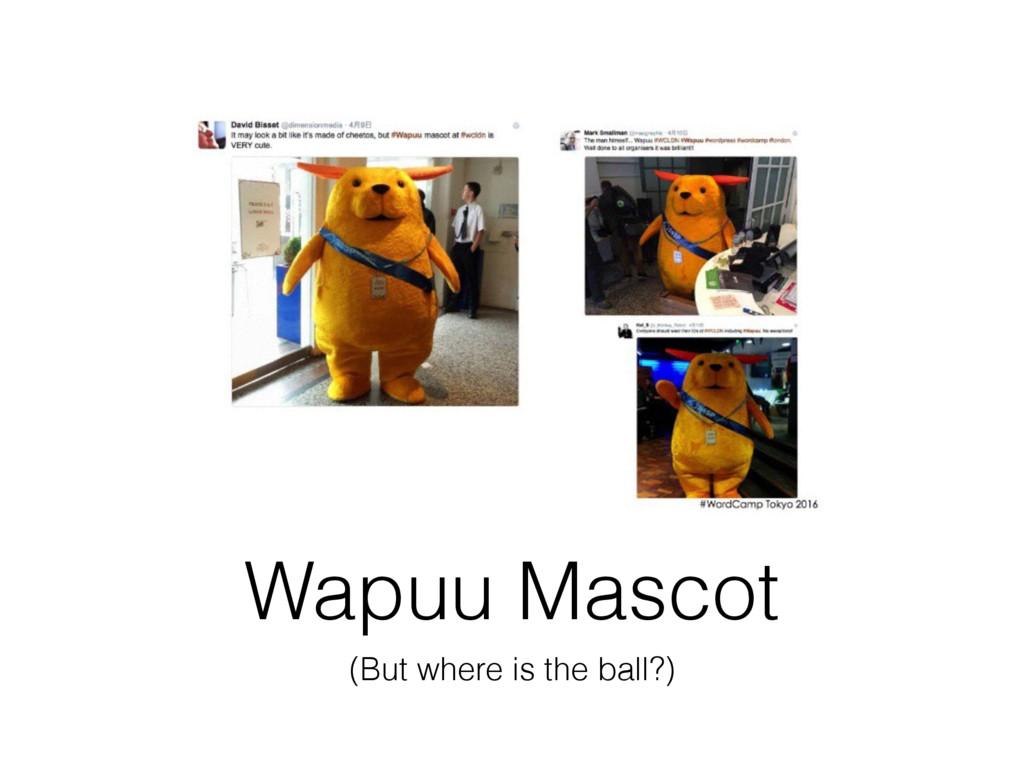 Wapuu Mascot (But where is the ball?)
