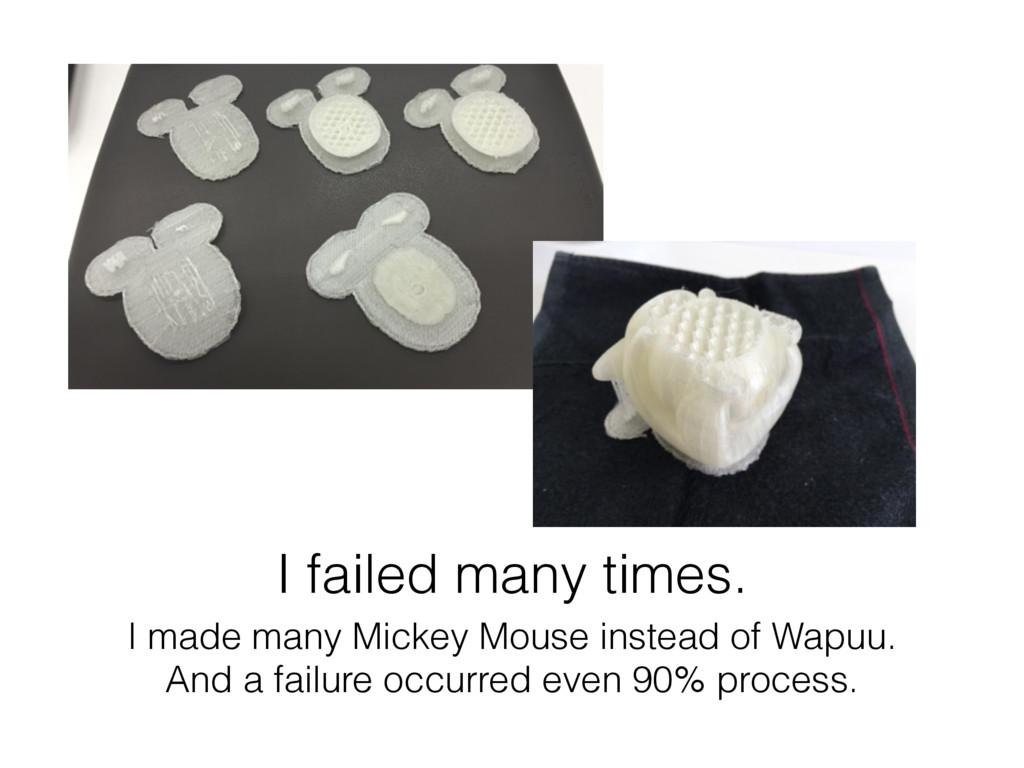 I failed many times. I made many Mickey Mouse i...