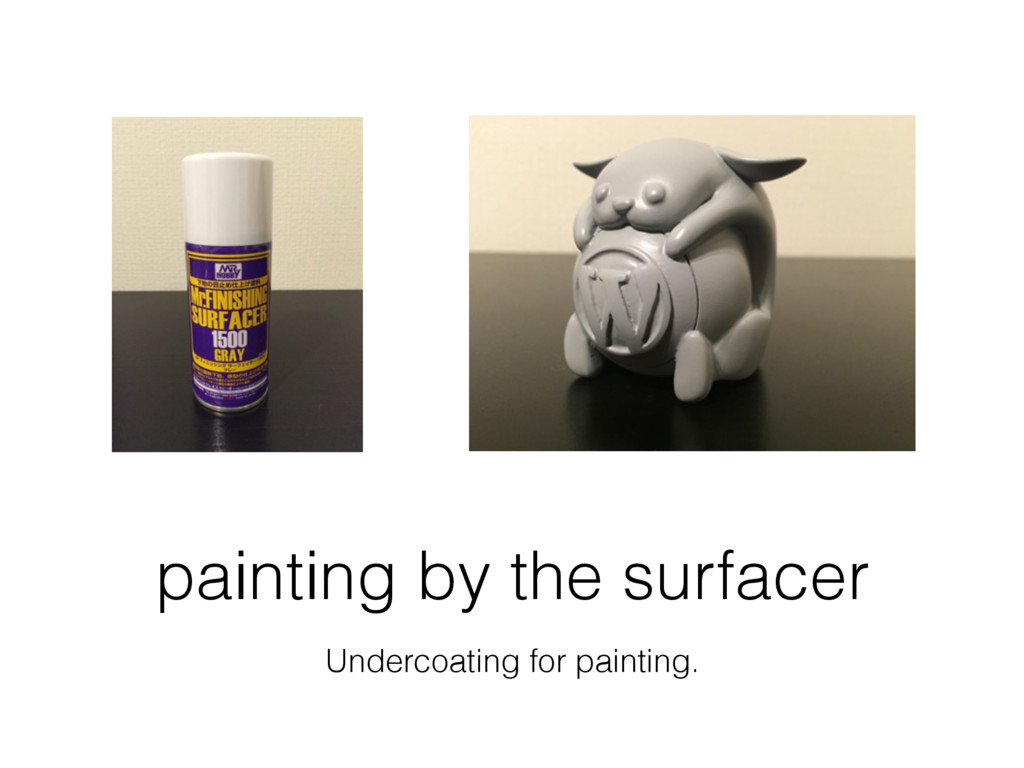 painting by the surfacer Undercoating for paint...