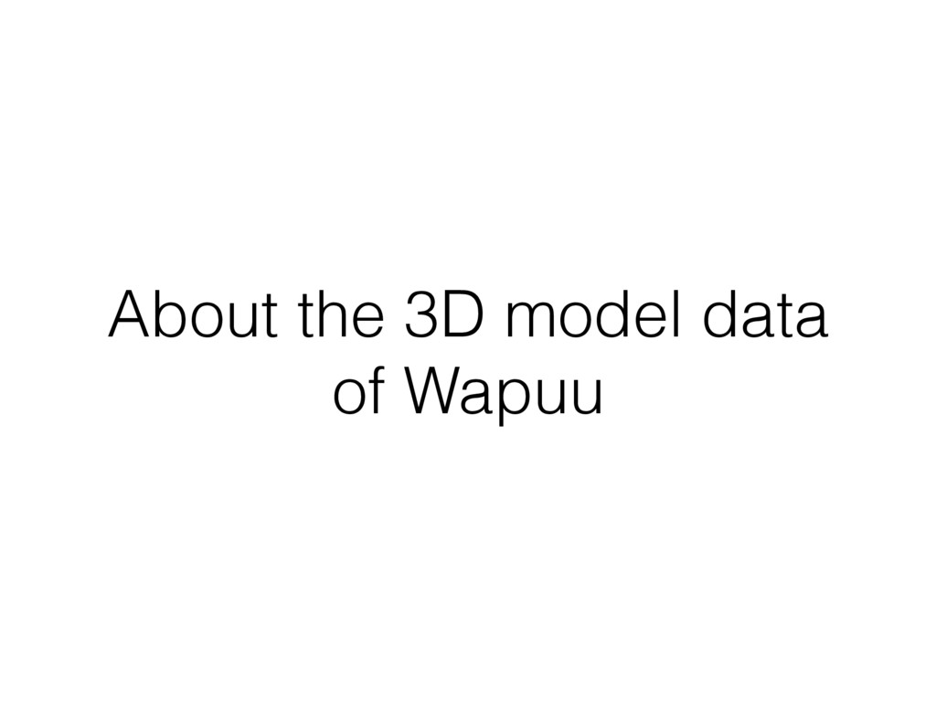 About the 3D model data of Wapuu