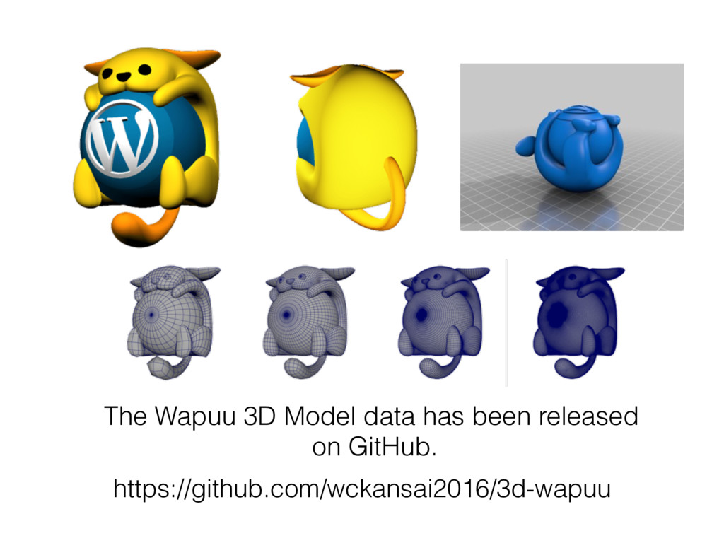 The Wapuu 3D Model data has been released on Gi...