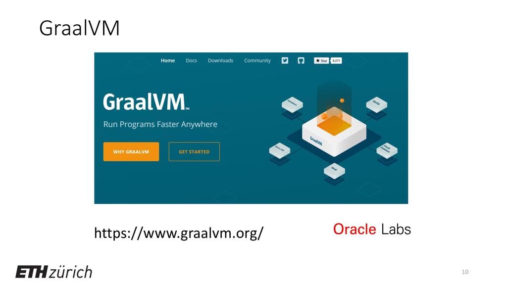 GraalVM 10 https://www.graalvm.org/
