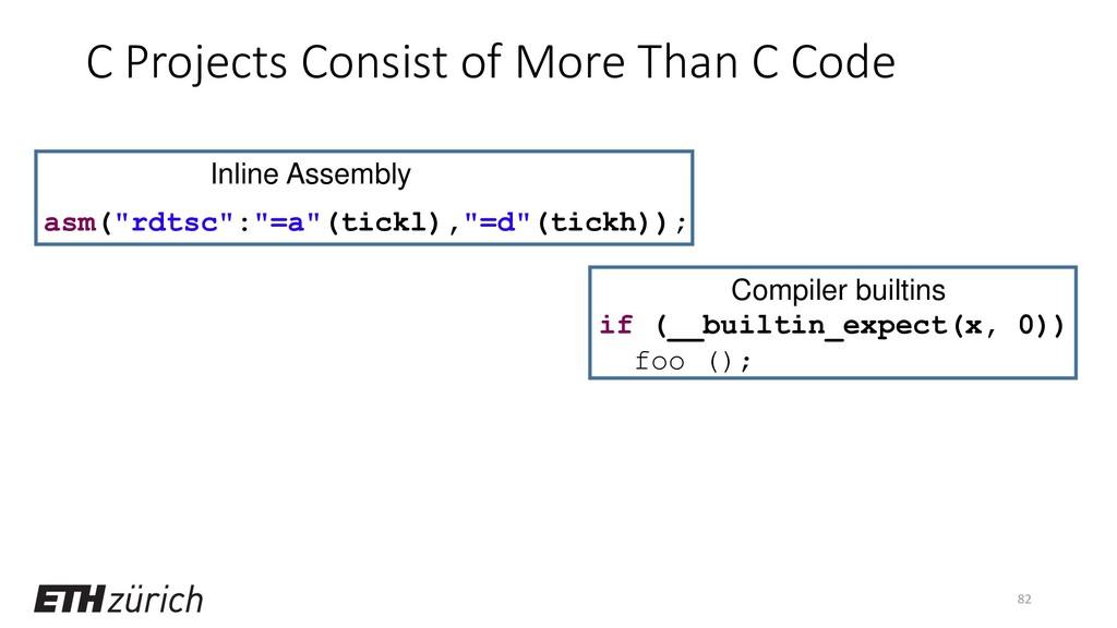 "82 if (__builtin_expect(x, 0)) foo (); asm(""rdt..."