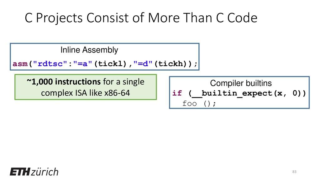 "83 if (__builtin_expect(x, 0)) foo (); asm(""rdt..."