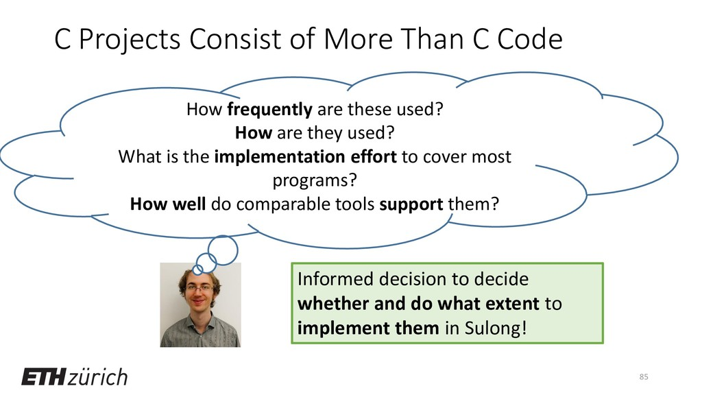 C Projects Consist of More Than C Code 85 How f...