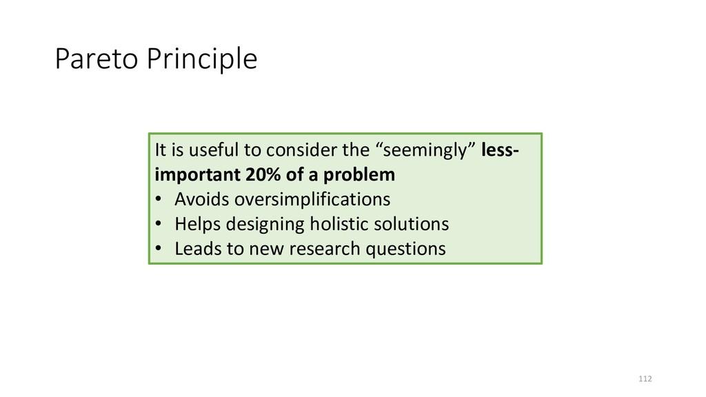 Pareto Principle 112 It is useful to consider t...