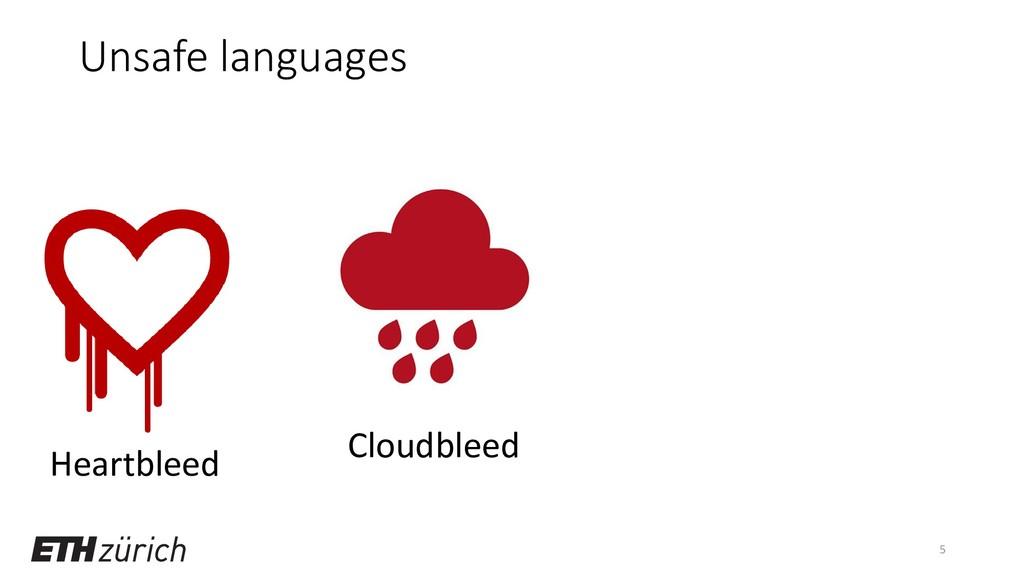 Unsafe languages 5 Heartbleed Cloudbleed