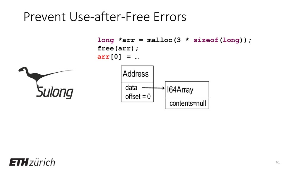 Prevent Use-after-Free Errors 61 long *arr = ma...