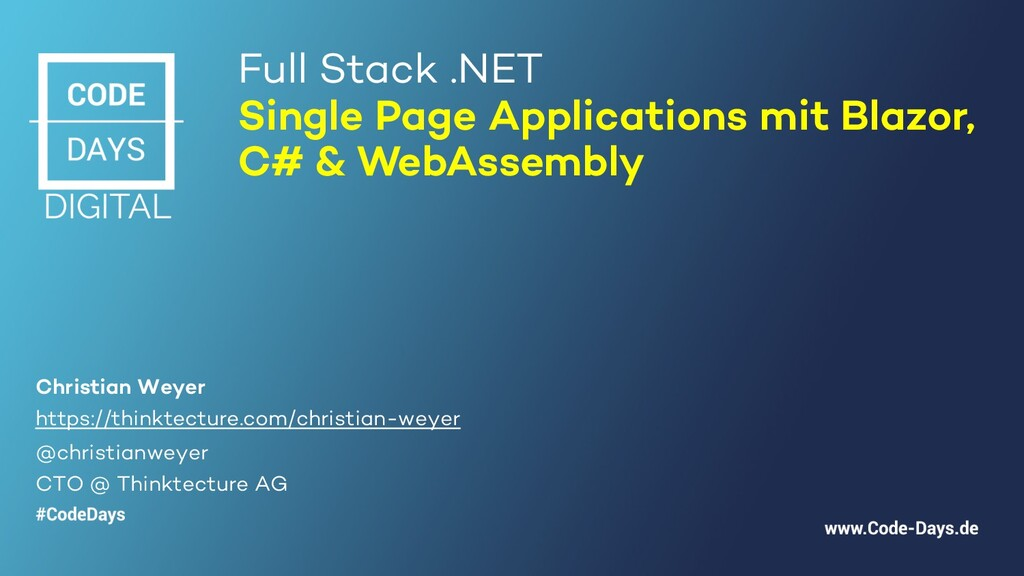 Full Stack .NET Single Page Applications mit Bl...