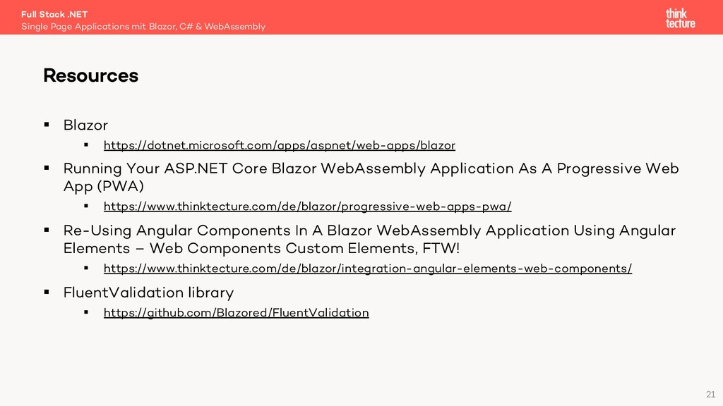 21 § Blazor § https://dotnet.microsoft.com/apps...