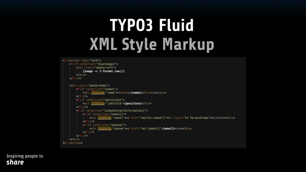 Inspiring people to share XML Style Markup TYPO...