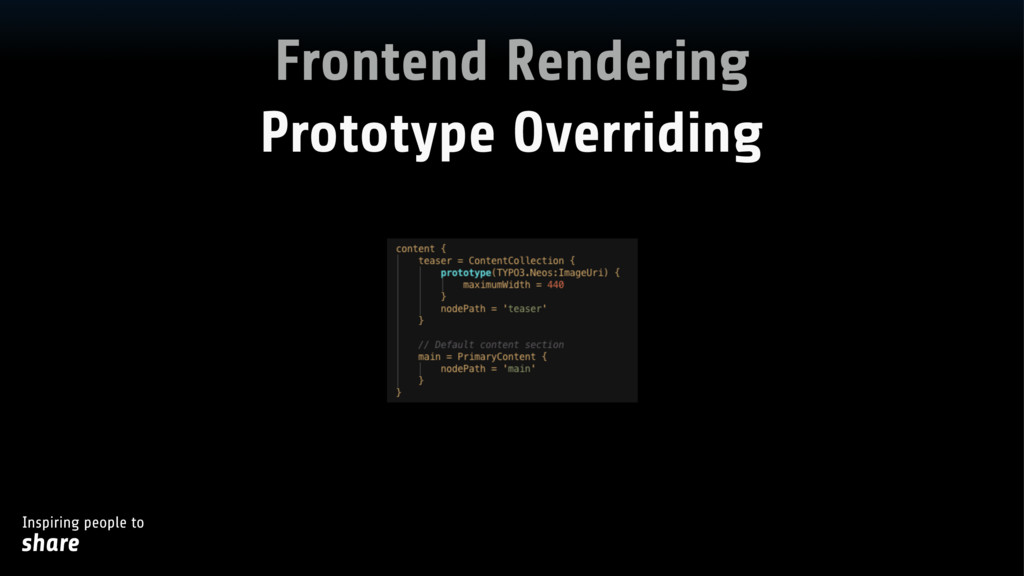 Inspiring people to share Frontend Rendering Pr...