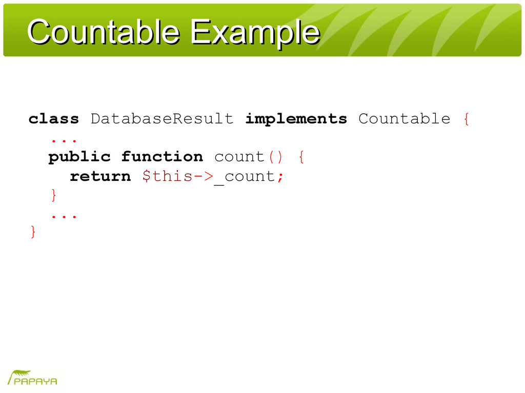 Countable Example Countable Example class Datab...