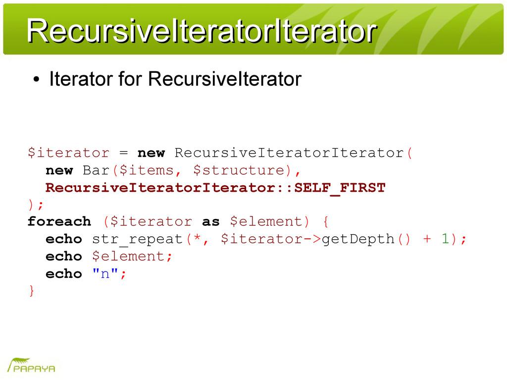 RecursiveIteratorIterator RecursiveIteratorIter...
