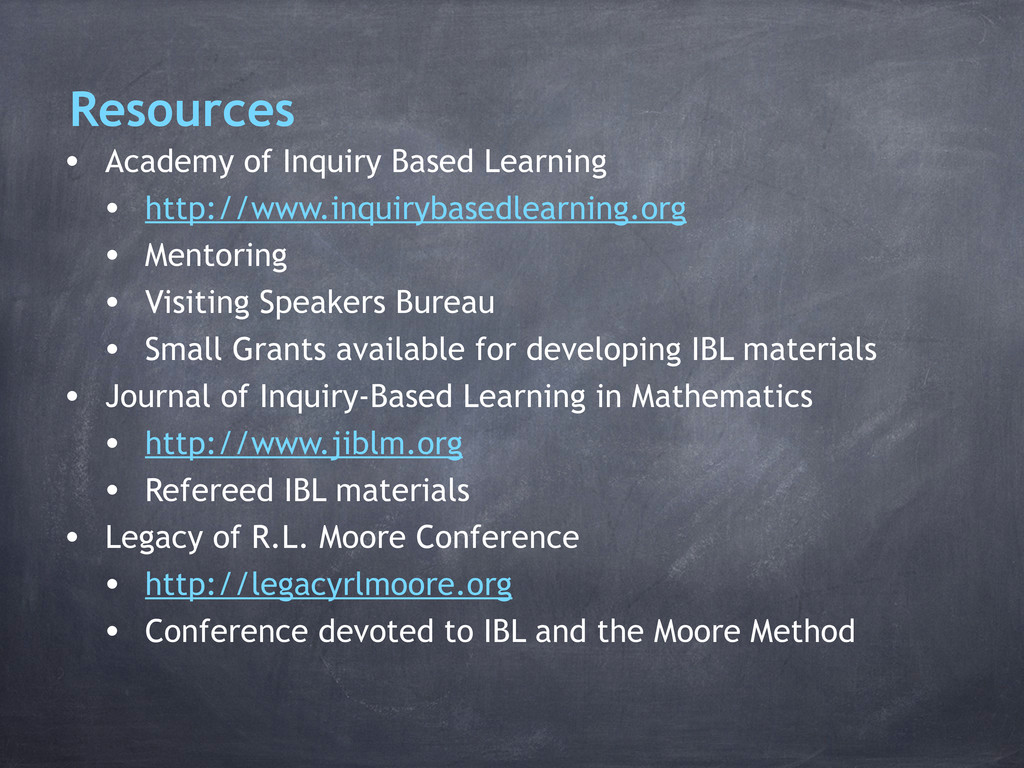 Resources • Academy of Inquiry Based Learning •...