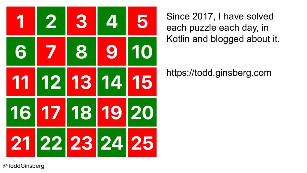 Since 2017, I have solved each puzzle each day,...