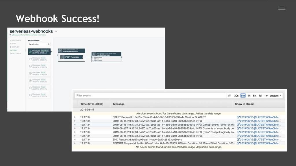 Webhook Success!
