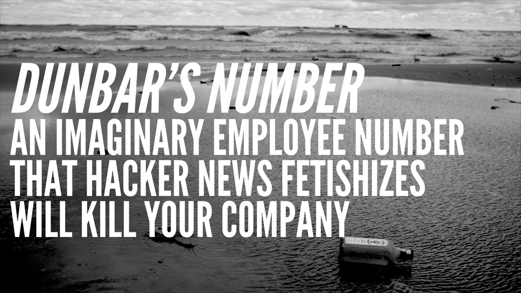 DUNBAR'S NUMBER AN IMAGINARY EMPLOYEE NUMBER TH...