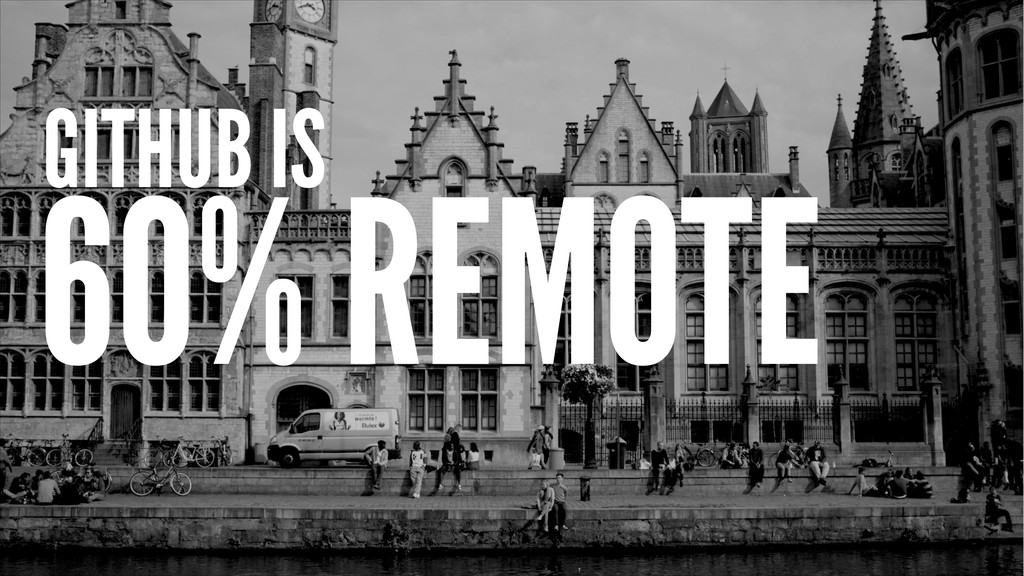 60% REMOTE GITHUB IS