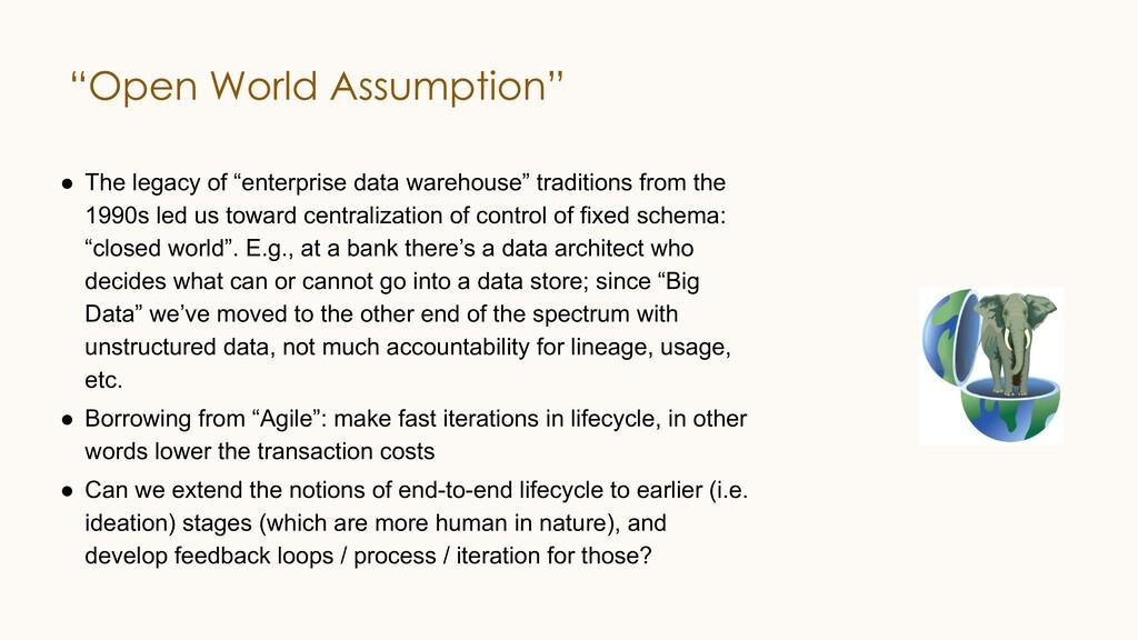 "● The legacy of ""enterprise data warehouse"" tra..."