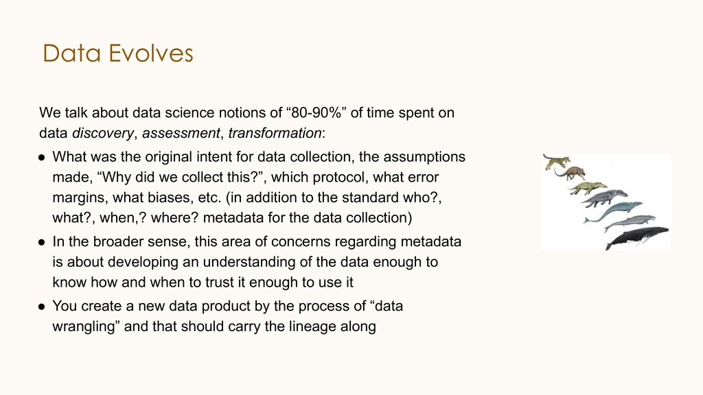 """We talk about data science notions of """"80-90%"""" ..."""