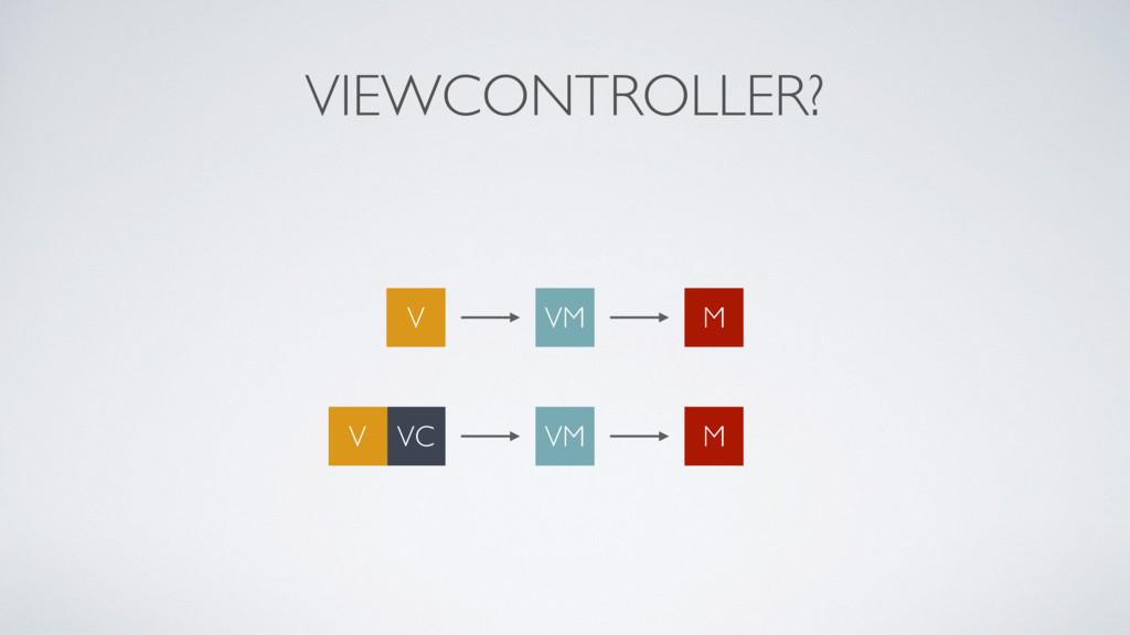 VIEWCONTROLLER? VM M V VM M VC V
