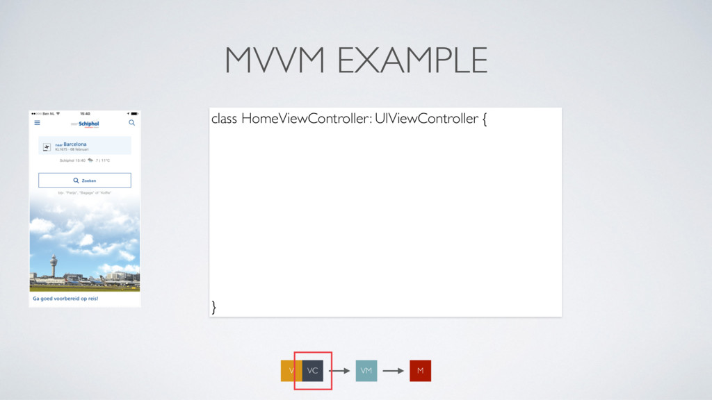 MVVM EXAMPLE class HomeViewController: UIViewCo...