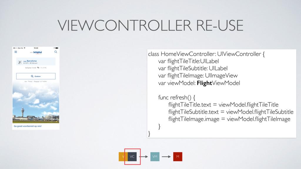 VIEWCONTROLLER RE-USE VM M VC V class HomeViewC...