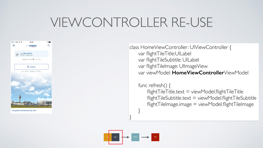 VIEWCONTROLLER RE-USE class HomeViewController:...