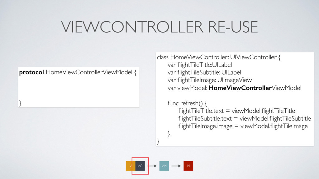 VIEWCONTROLLER RE-USE protocol HomeViewControll...