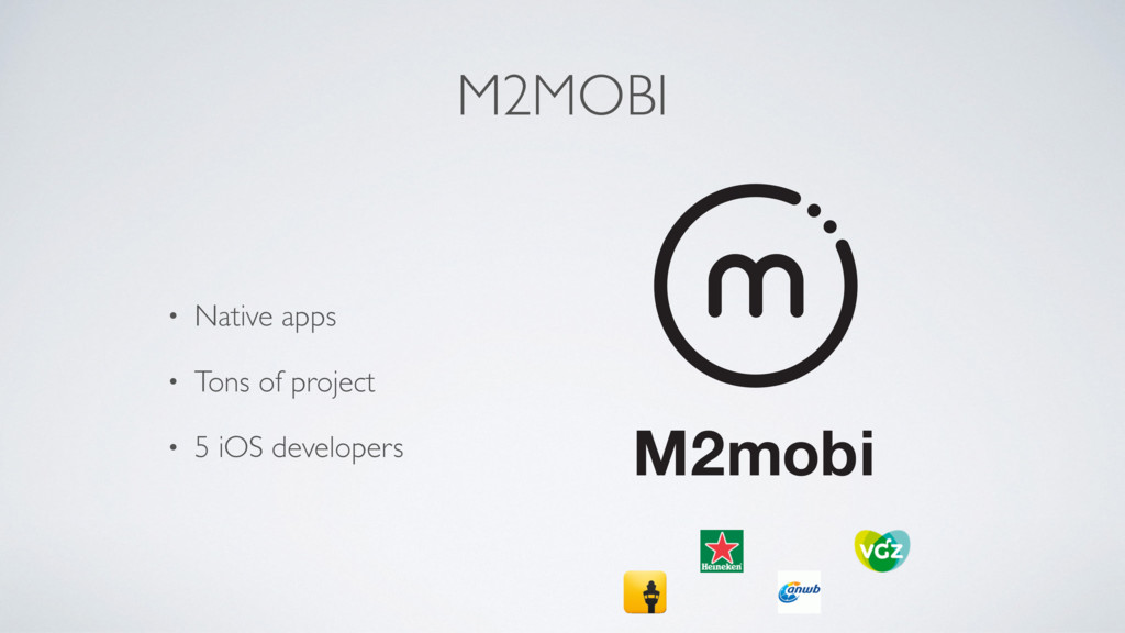 M2MOBI • Native apps • Tons of project • 5 iOS ...