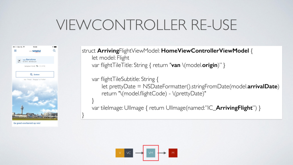 VIEWCONTROLLER RE-USE struct ArrivingFlightView...