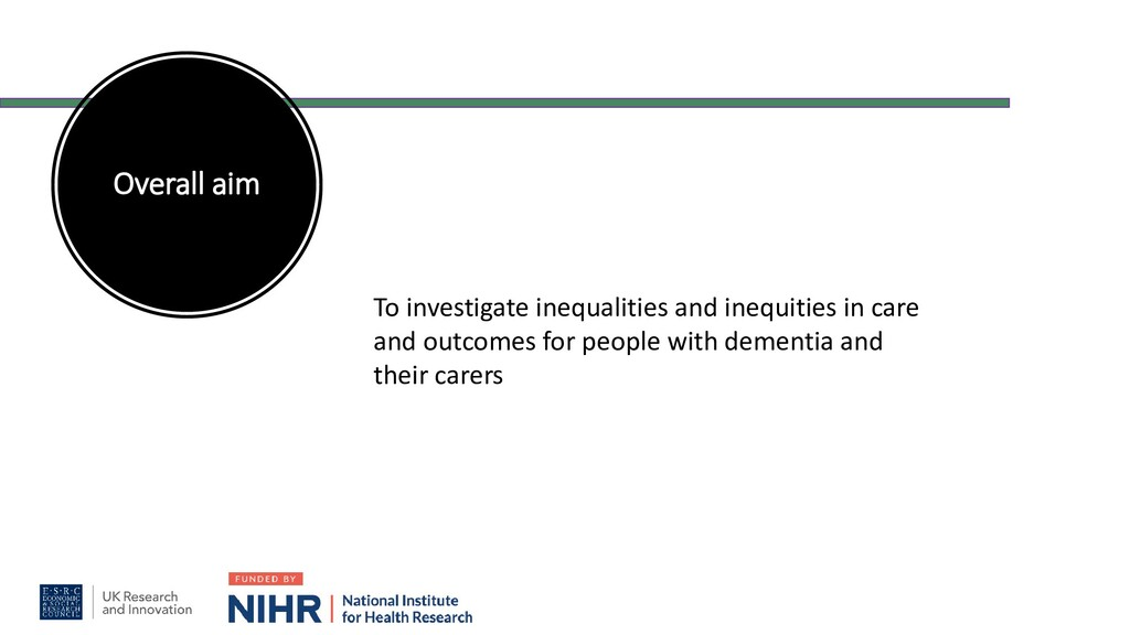 Overall aim To investigate inequalities and ine...