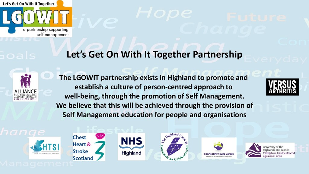 Let's Get On With It Together Partnership The L...